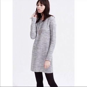 Lou & Grey heathered gray spacedye sweater dress